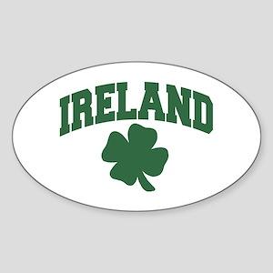 Ireland Shamrock Oval Sticker
