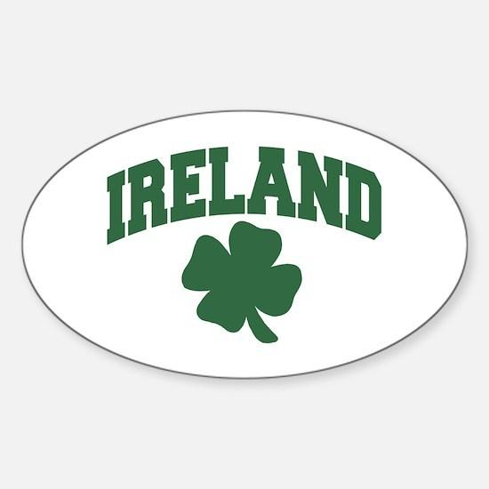 Ireland Shamrock Oval Decal