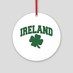 Ireland Shamrock Ornament (Round)