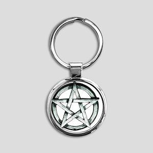 Browning Pentagram Round Keychain