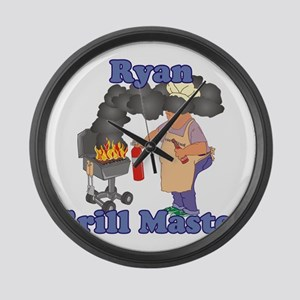 Grill Master Ryan Large Wall Clock