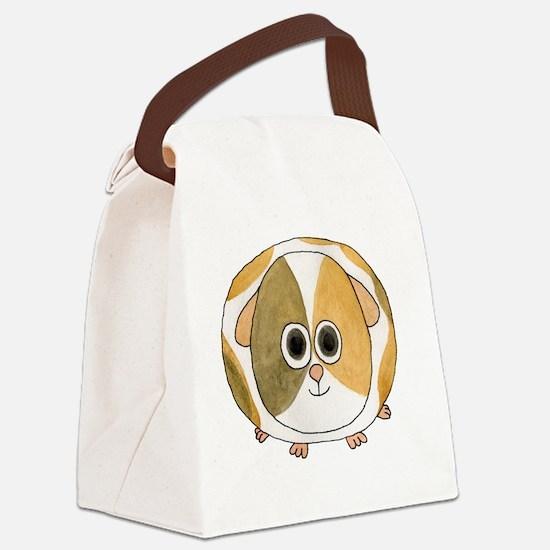 Tortoiseshell Guinea Pig. Canvas Lunch Bag