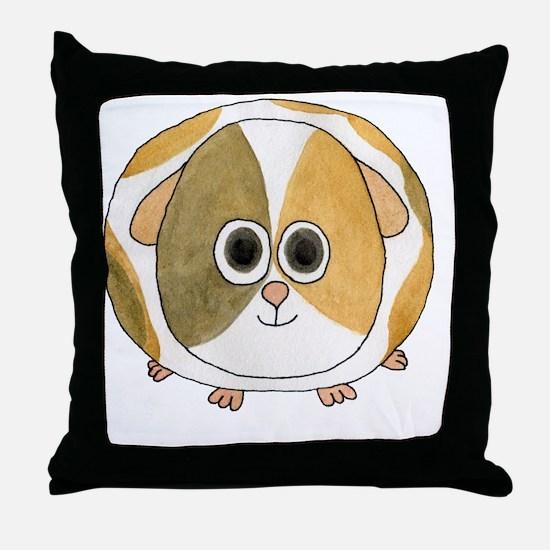 Tortoiseshell Guinea Pig. Throw Pillow