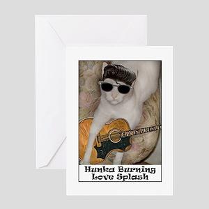 Hunka Burning Love Splash Greeting Cards (Package