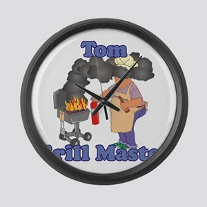 Grill Master Tom Large Wall Clock