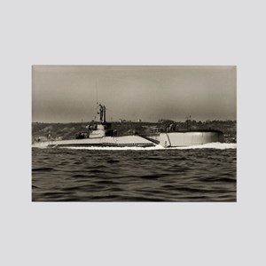 uss baya large framed print Rectangle Magnet