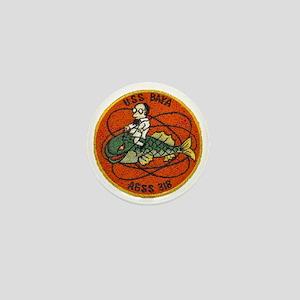 uss baya patch transparent Mini Button