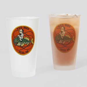 uss baya patch transparent Drinking Glass