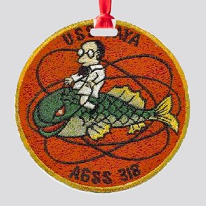 uss baya patch transparent Round Ornament