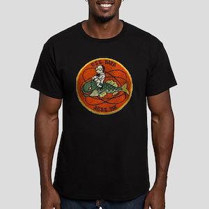 uss baya patch transpa Men's Fitted T-Shirt (dark)
