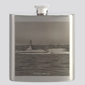 uss baya framed panel print Flask