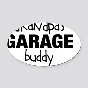 Grandpas Garage Buddy Oval Car Magnet