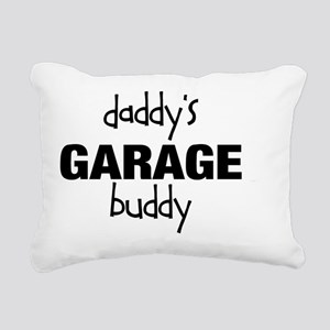 Daddys Garage Buddy Rectangular Canvas Pillow