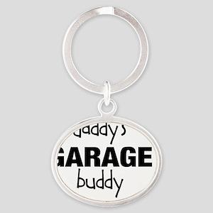 Daddys Garage Buddy Oval Keychain