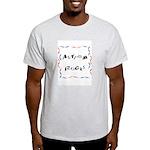 Autism Rocks Ash Grey T-Shirt