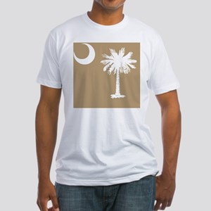 South Carolina Palmetto State Flag Fitted T-Shirt