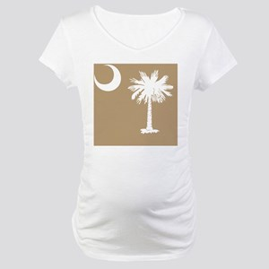 South Carolina Palmetto State Fl Maternity T-Shirt