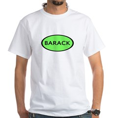 Barack Oval White T-Shirt