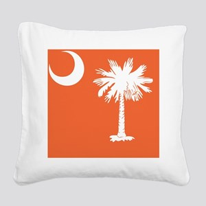 South Carolina Palm... Square Canvas Pillow