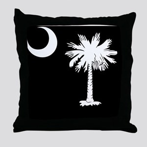 South Carolina Palmetto State Flag Throw Pillow