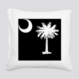 South Carolina Palmetto State Square Canvas Pillow