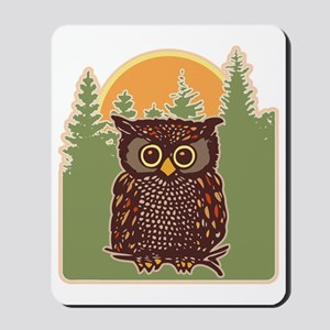 Hoot Owl Forest Mousepad