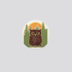 Hoot Owl Forest Mini Button