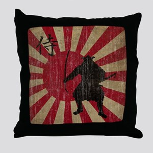 Vintage Samurai Throw Pillow