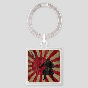 Vintage Samurai Square Keychain