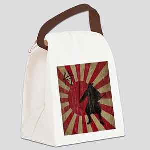 Vintage Samurai Canvas Lunch Bag