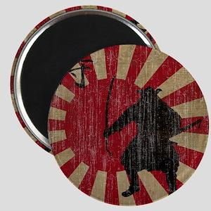 Vintage Samurai Magnet