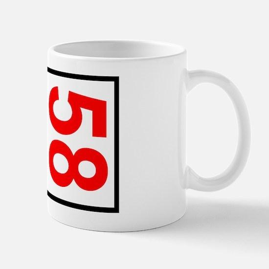 58 Autocross Number Plates Mug