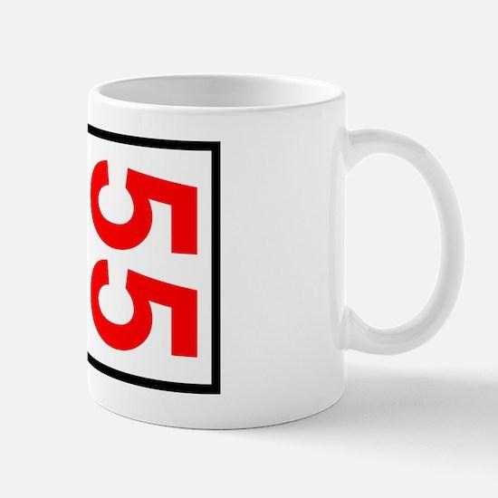 55 Autocross Number Plates Mug