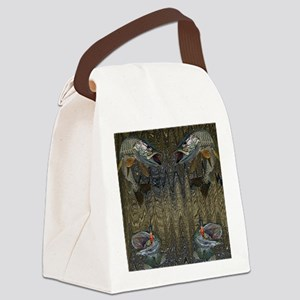 Musky Fishing Canvas Lunch Bag