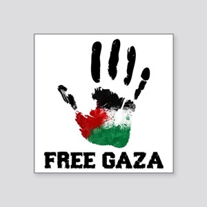 "Free Gaza Square Sticker 3"" x 3"""