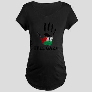 Free Gaza Maternity Dark T-Shirt