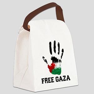 Free Gaza Canvas Lunch Bag