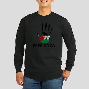 Free Gaza Long Sleeve Dark T-Shirt