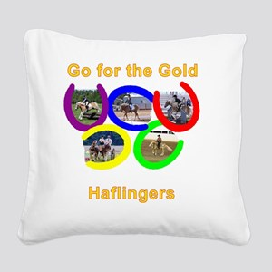 Gold Square Canvas Pillow