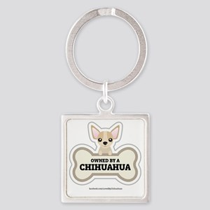 Owned by a Chihuahua Square Keychain