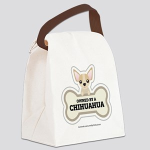 Owned by a Chihuahua Canvas Lunch Bag
