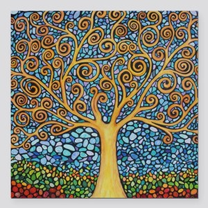 "My Tree of Life Square Car Magnet 3"" x 3"""