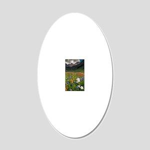 Alpine flowers in Rustler's  20x12 Oval Wall Decal