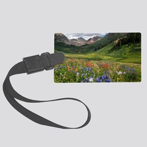 Alpine flowers in Rustler's Gulc Large Luggage Tag