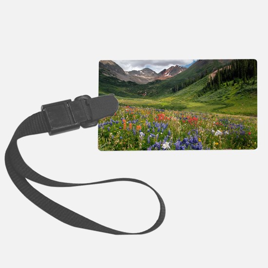 Alpine flowers in Rustler's Gulc Luggage Tag