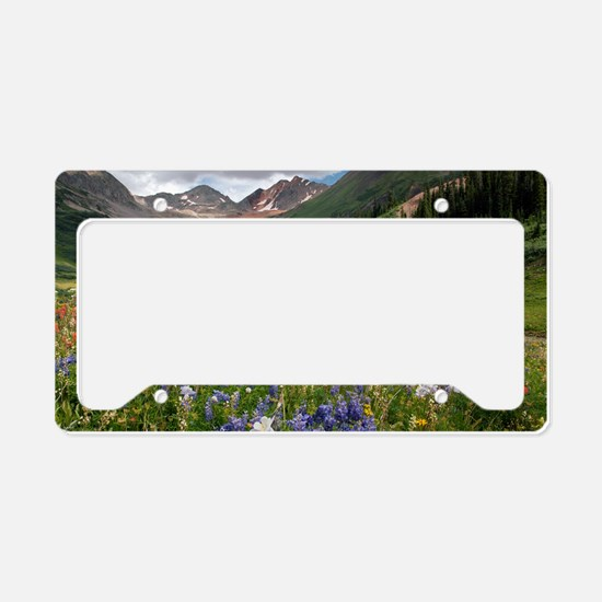 Alpine flowers in Rustler's G License Plate Holder