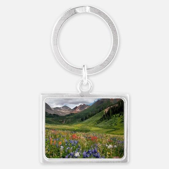 Alpine flowers in Rustler's Gul Landscape Keychain