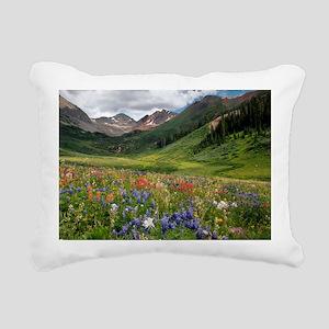 Alpine flowers in Rustle Rectangular Canvas Pillow