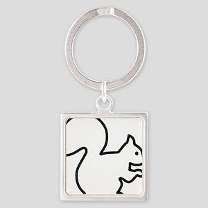 Squirrel Square Keychain