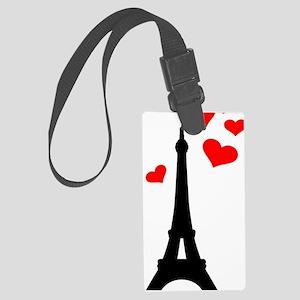 Eiffel Tower Paris Large Luggage Tag